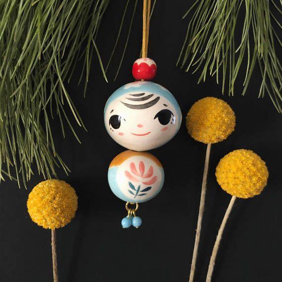 Babushka Babies || Ceramic Hand Painted Ornament