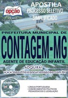 Apostila Concurso Prefeitura De Contagem Agente De Educacao