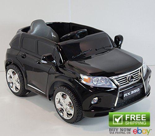 Usa Ride On Toys License Lexus Rx350 Black Suv Power Wheels Cars For Kids 12v Rc Ride On Toys Lexus Power Wheels