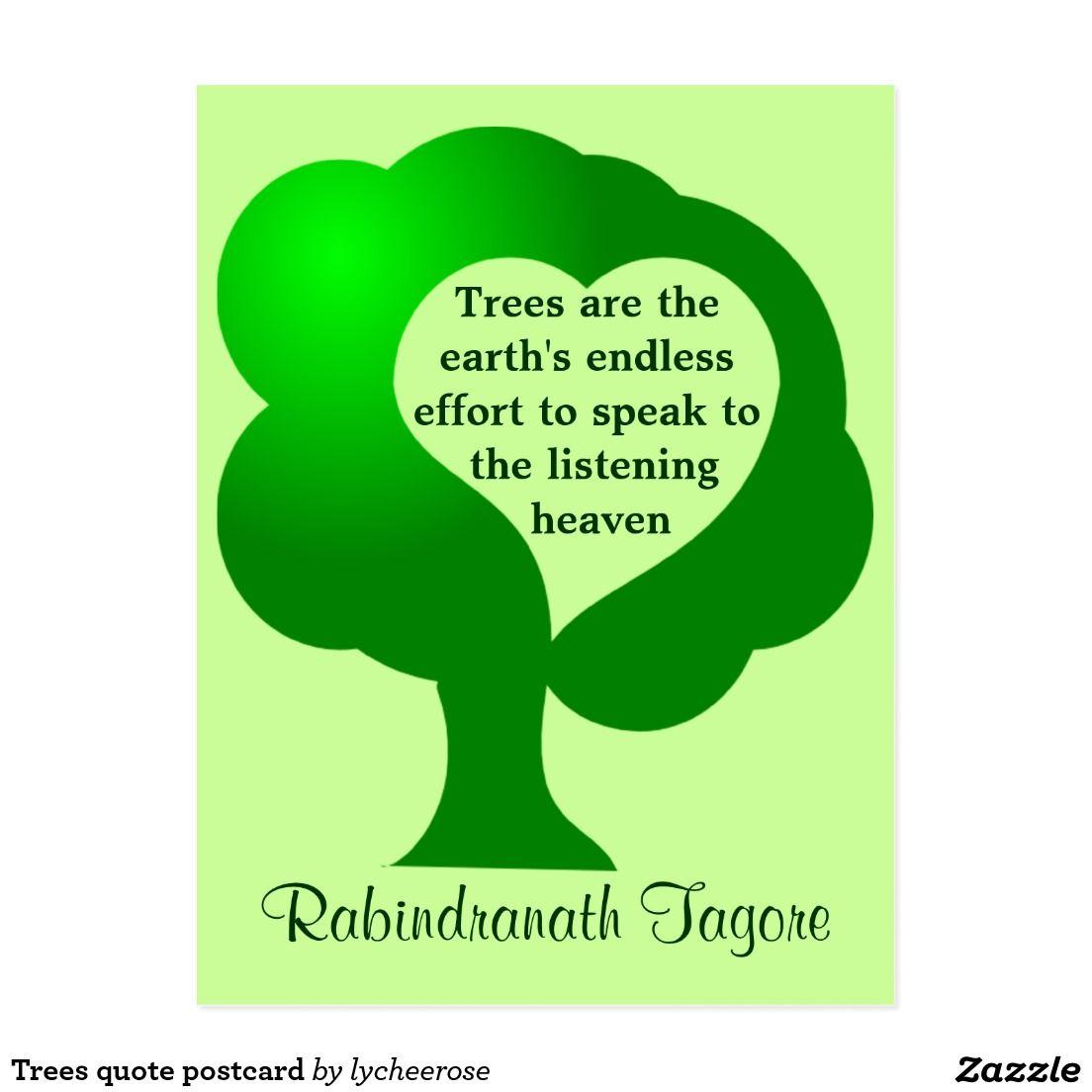 Trees quote postcard