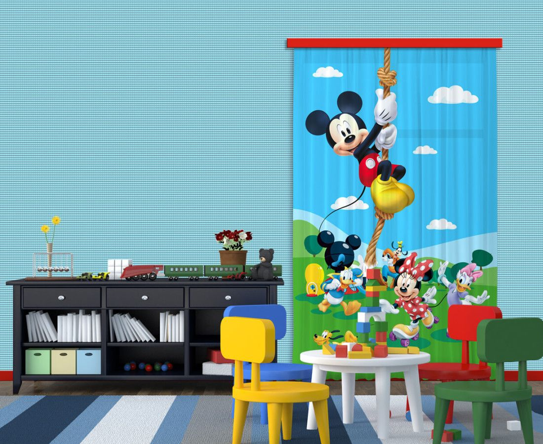 Disney Mickey mouse kids window curtain. New Coll… | Kids Curtains ...