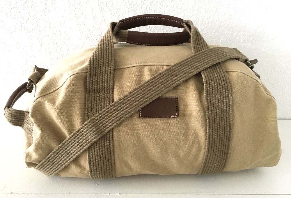 Details About Ed Bauer Blue Canvas Duffle Gym Luggage