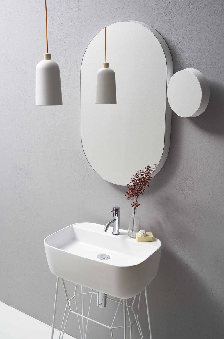 Wall-mounted bathroom mirror GRAVITY by Ex.t | NARCISSUS | Pinterest ...