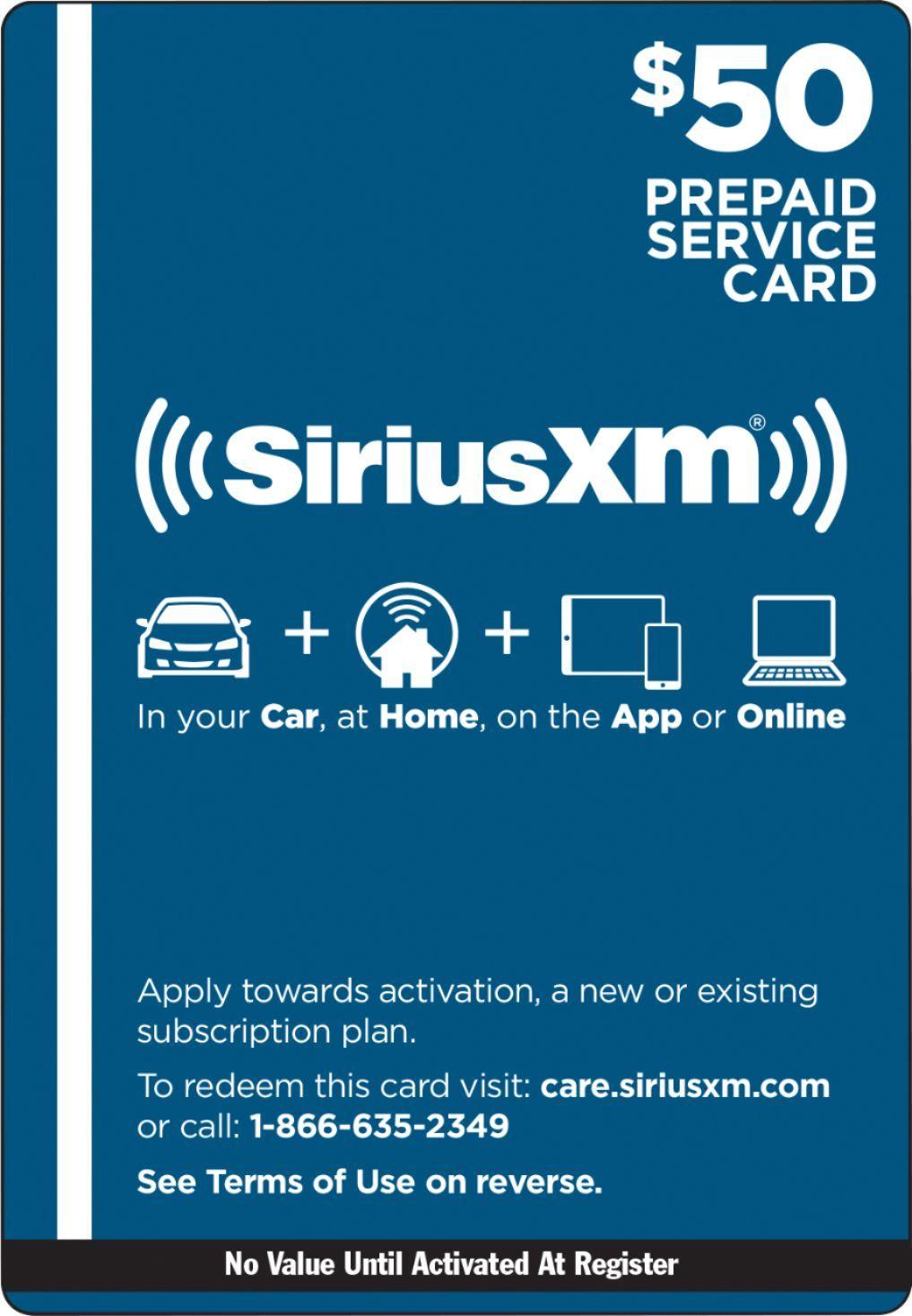 siriusxm gift card best buy