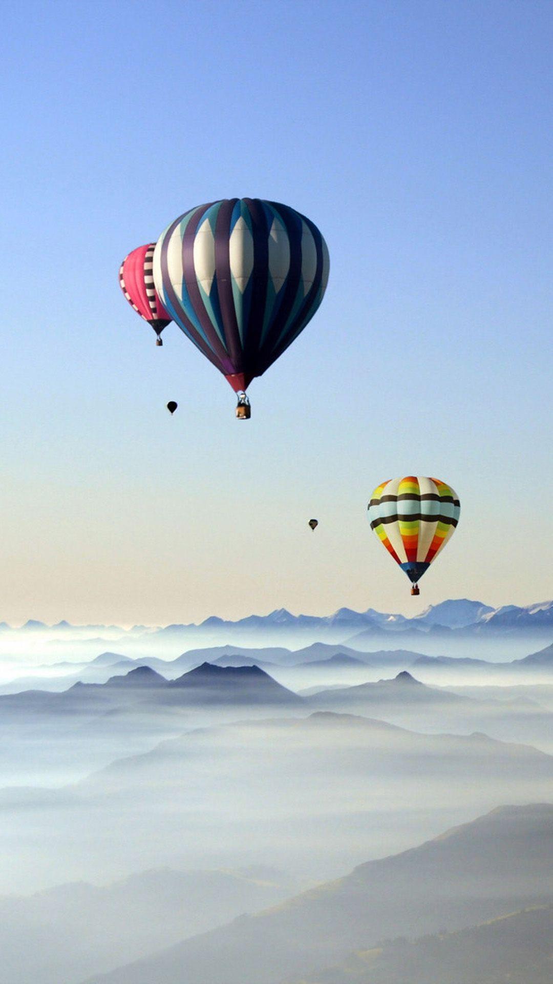 Rare Scenic Hot Air Balloon iPhone 6 wallpaper Ballons