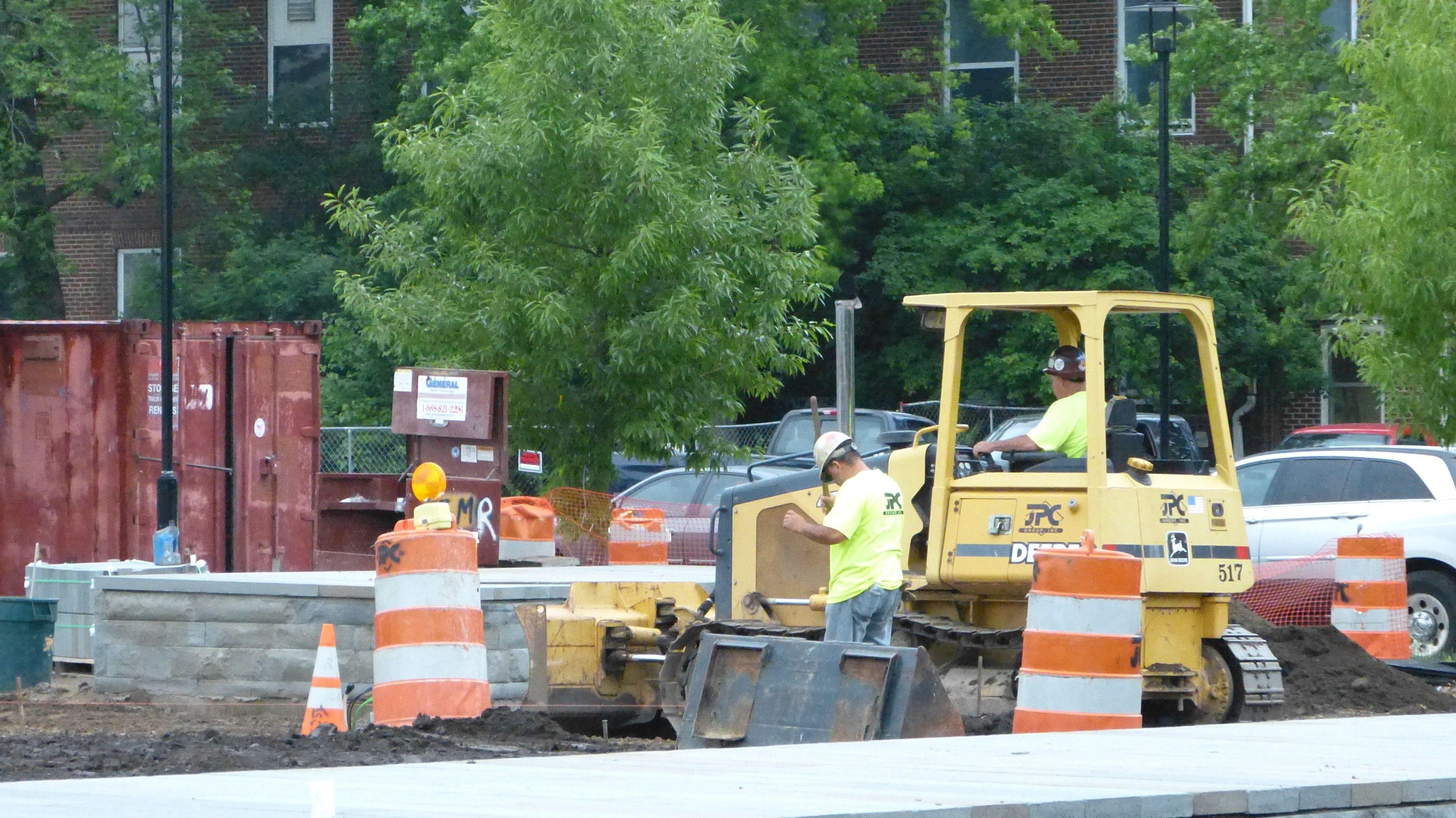 May 24th, 2013: Construction shots at League Island #greensolutions