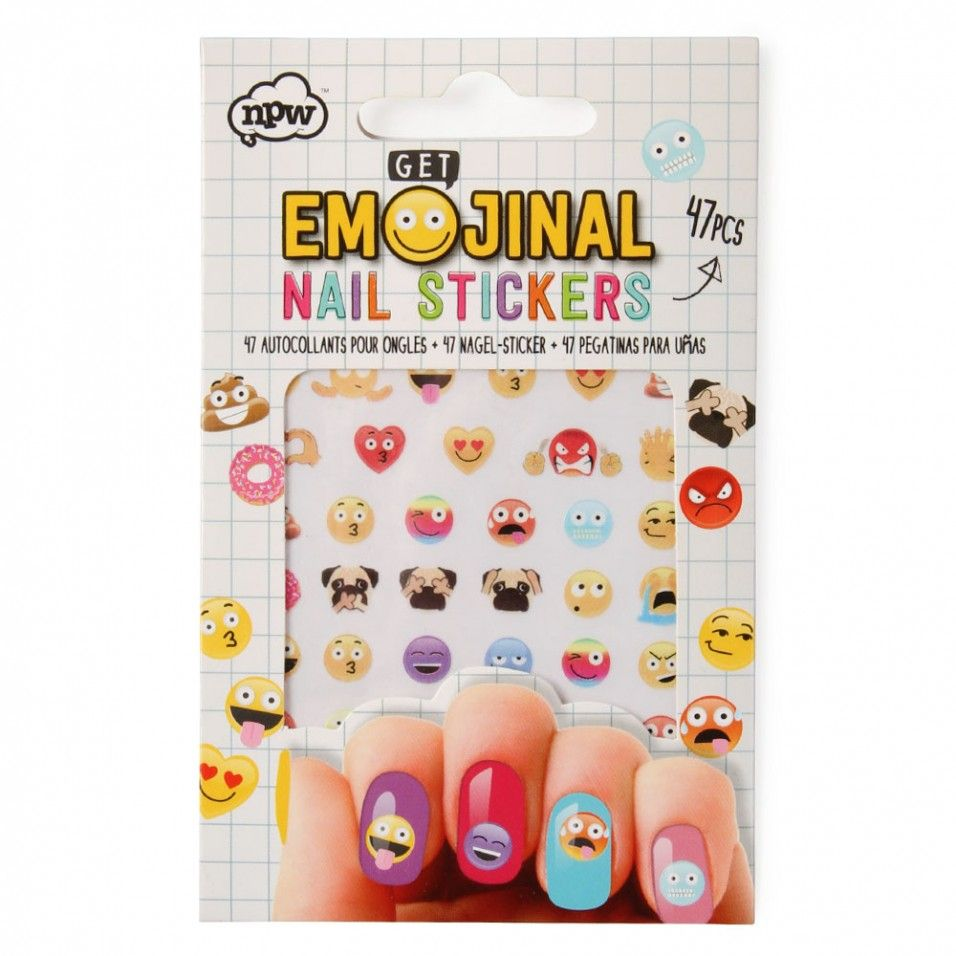 Emoji Nail Stickers | Kids Nail Art | Pinterest | For Her Stickers And Gifts For Her