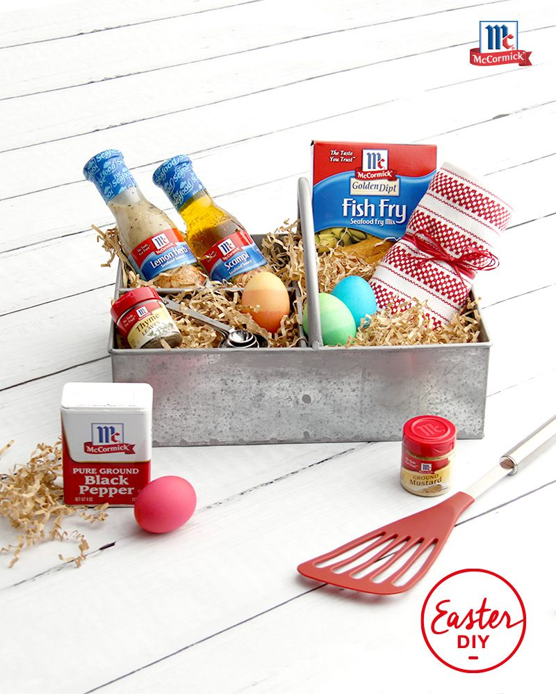 Ideal for a seafood lover, this DIY gift basket has everything you ...