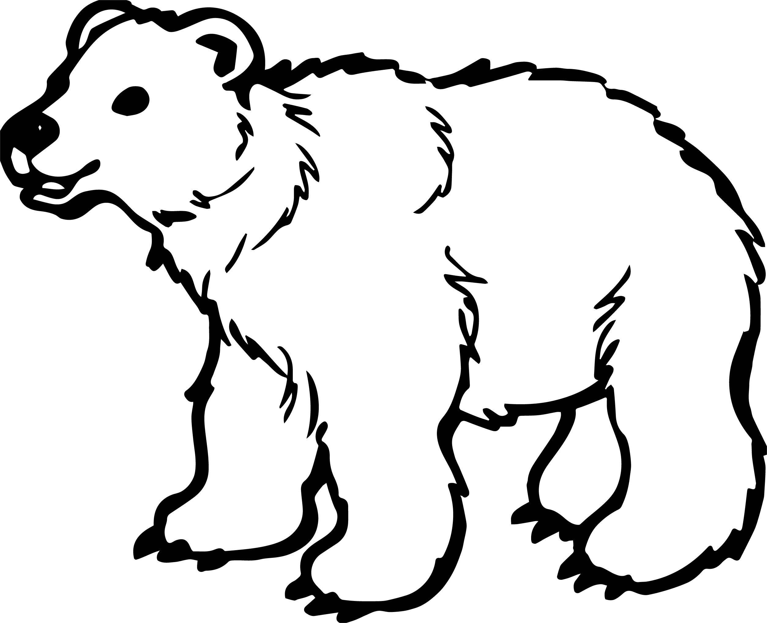 Nice Long Bear Coloring Page