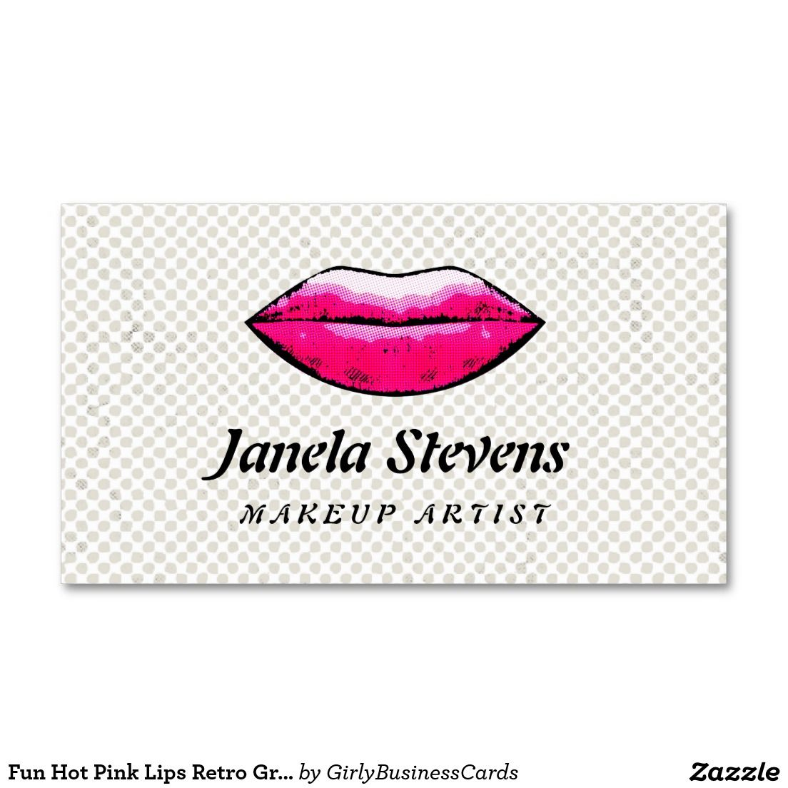 Cosmetology business cards for the quirky, fun loving makeup artist ...