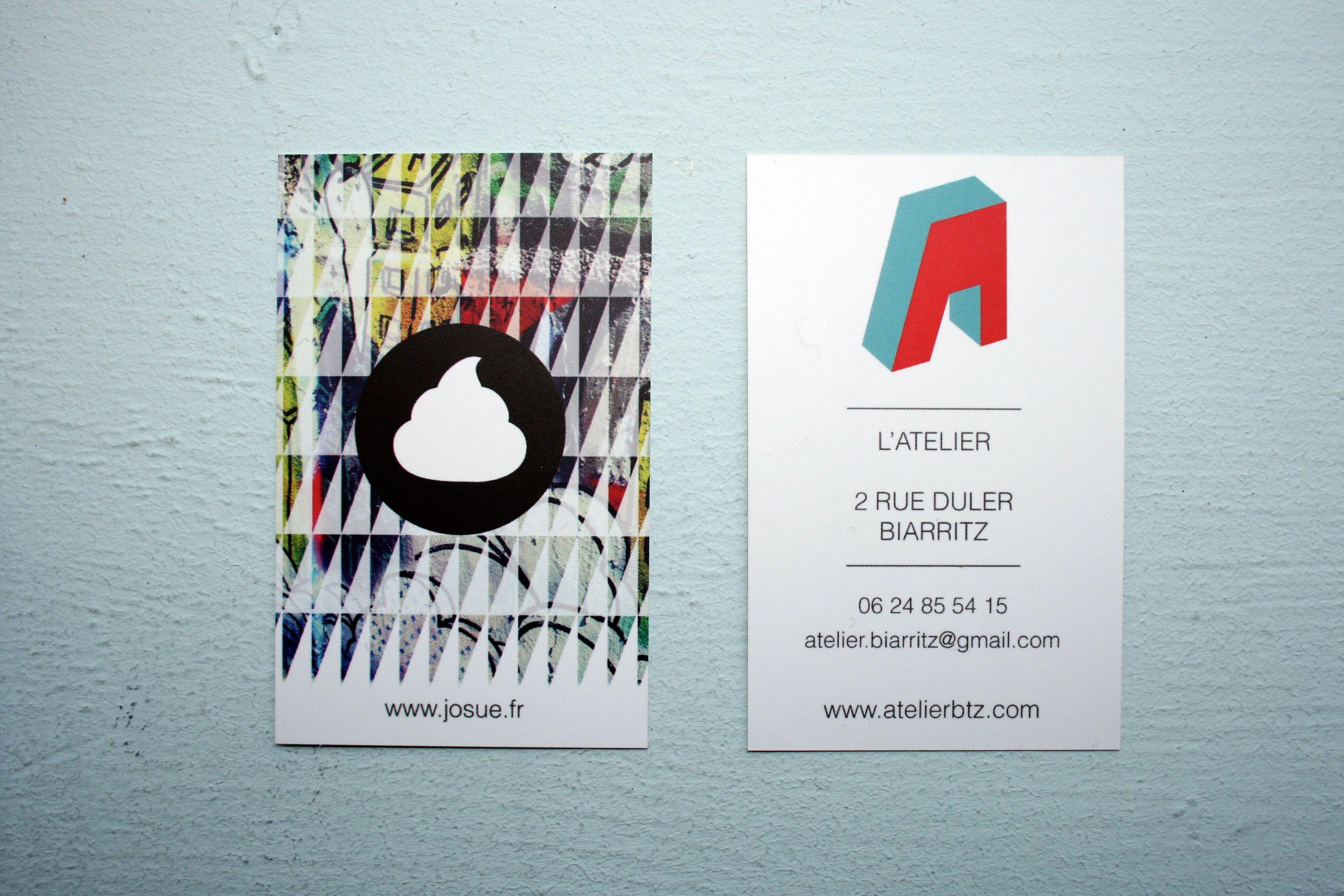 100 Cartes De Visite Au Format 85x54 Cm Sur Papier 350g Couche Mat