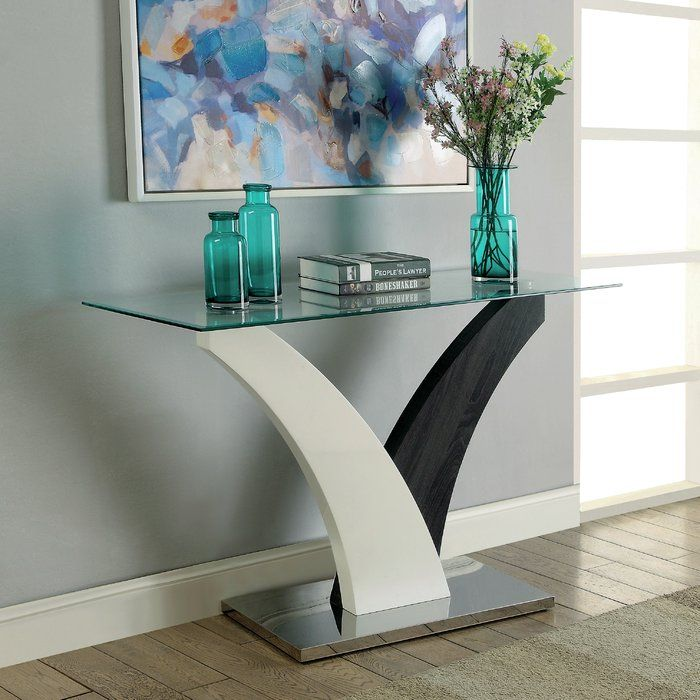 Jamel 50 Console Table Contemporary Console Table Modern Console Tables Contemporary Console