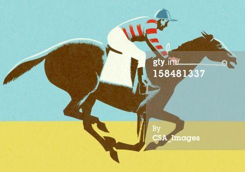 Jockey Riding Horse Royalty-free Illustration   Getty Images   158481337