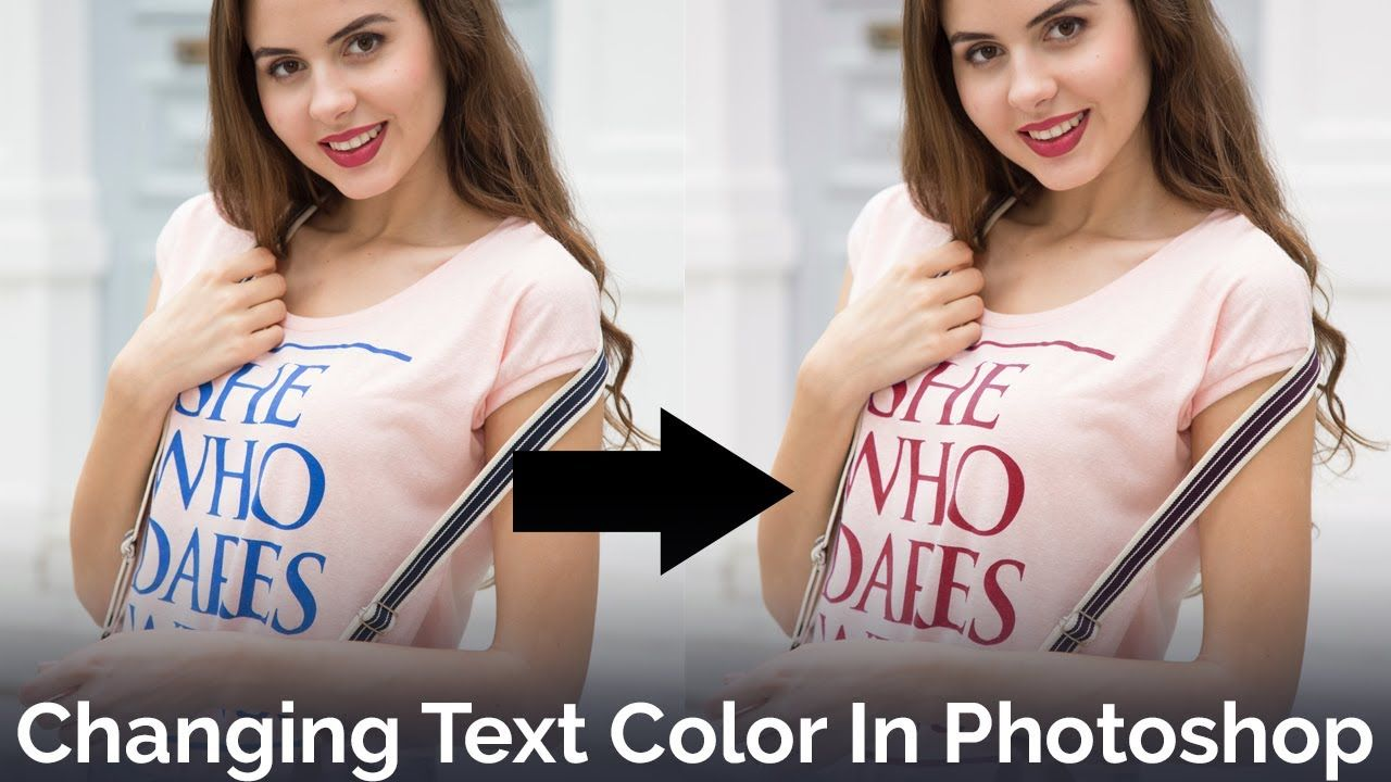 Change color of text in photoshop