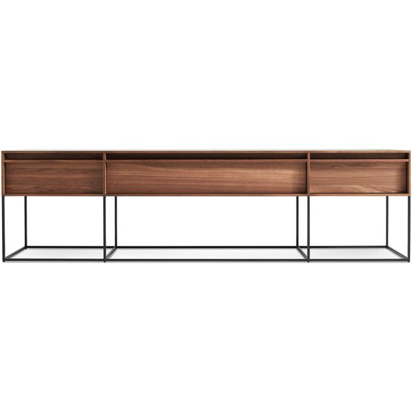 Rule Long U0026 Low   Long Low Console Table | Blu Dot ❤ Liked On Polyvore