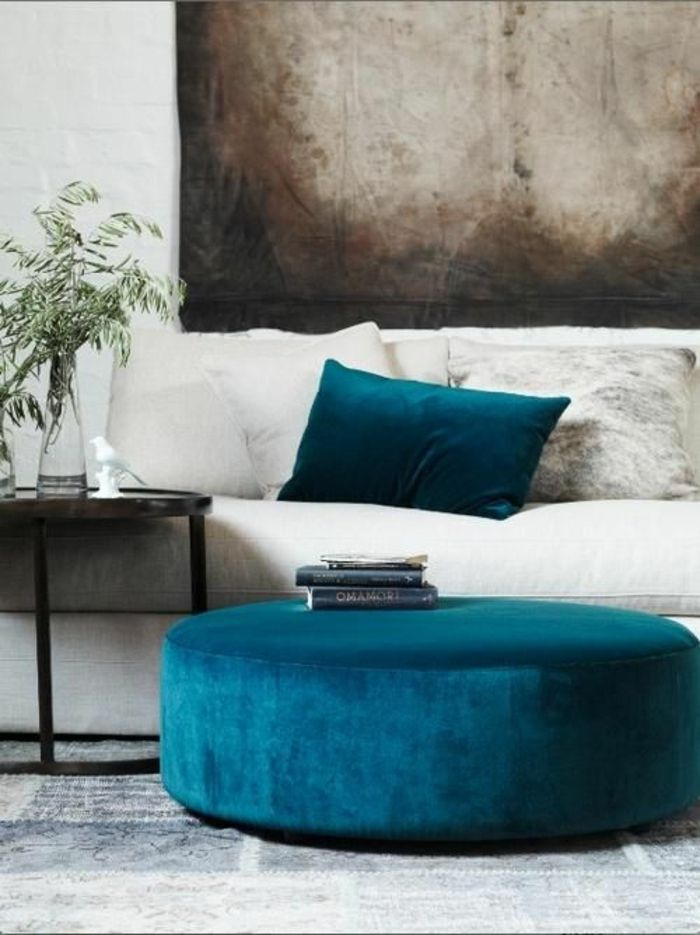 Perfekt Wohnzimmermöbel Petrol Farbe Deko Petrol Wandfarne Petrol
