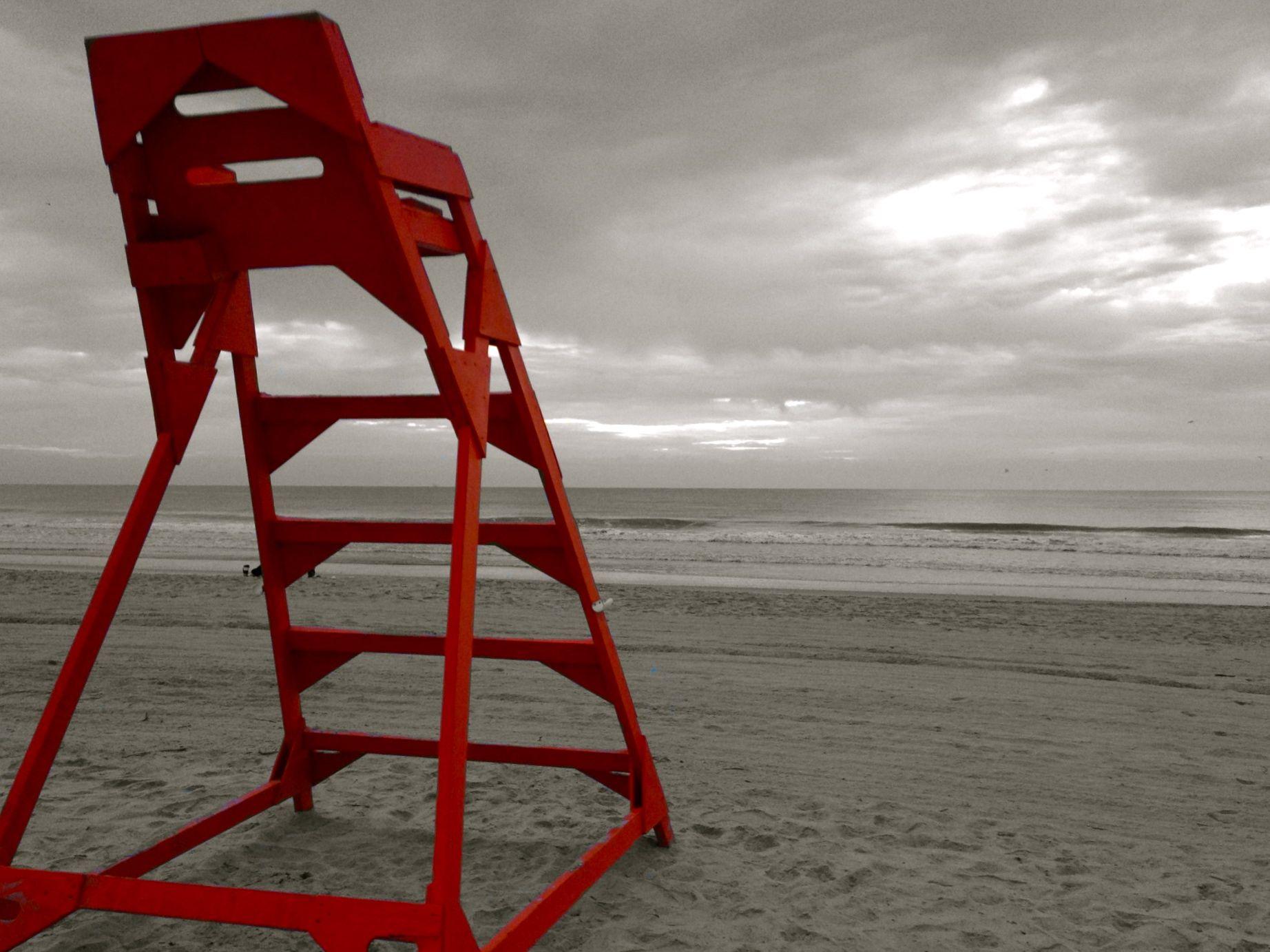 Lifeguard Chair Jacksonville Beach Fl Apron Strings For