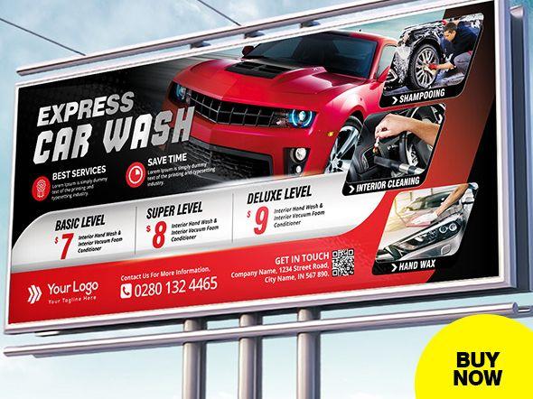 Car Wash Billboard Template