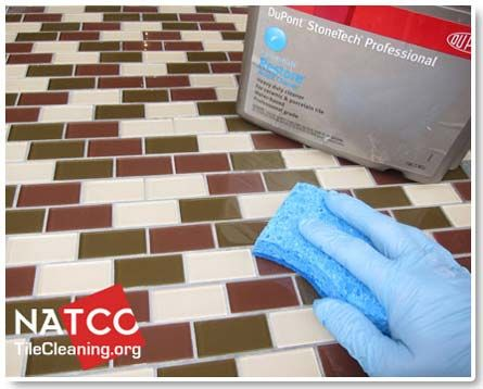 cleaning grout with acidic cleaner