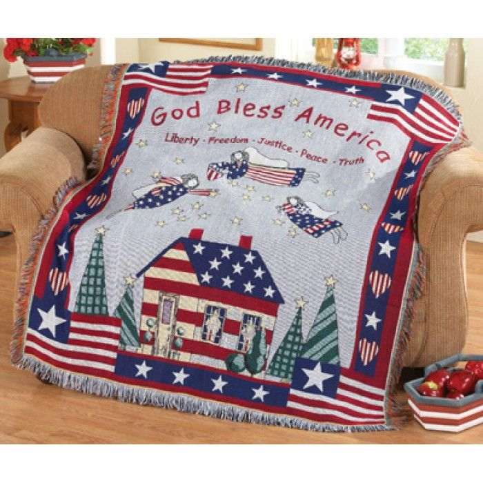 by Collections Etc Lighted American Flag Pillow Cover