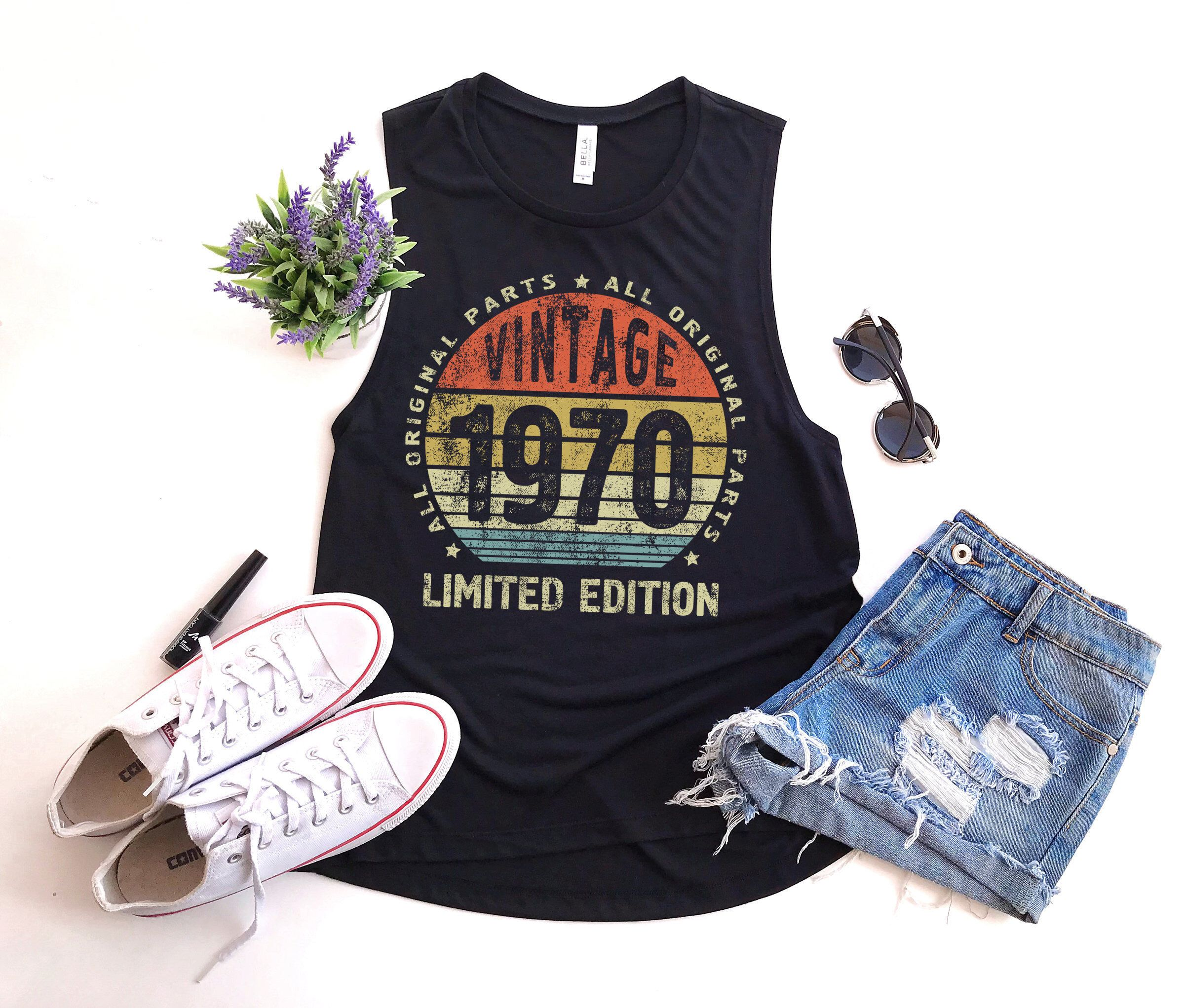 50th birthday gift for women vintage 1970 muscle tank