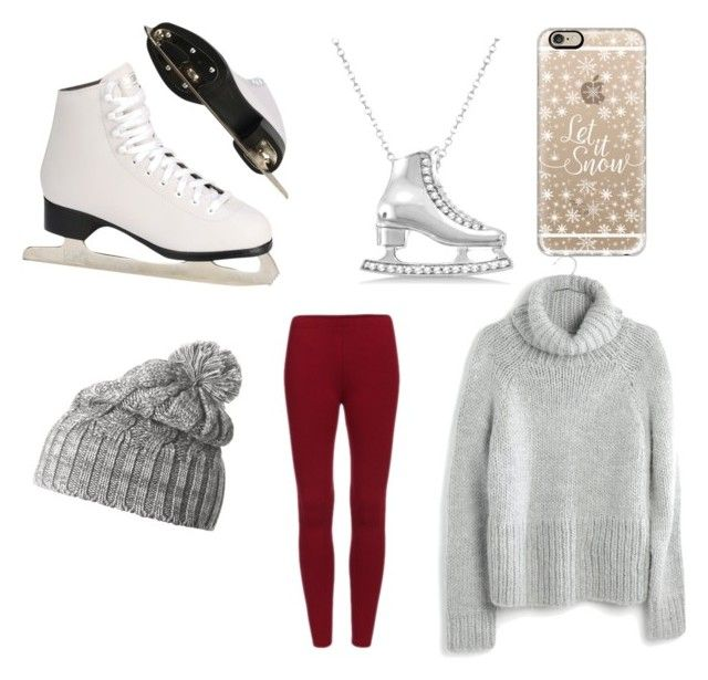"""""""Let's go skating ⛸"""" by lilypoplove ❤ liked on Polyvore featuring Allurez, Madewell, Casetify and Helly Hansen"""