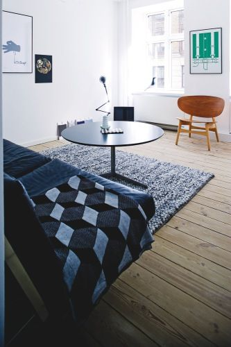 Via Baby Ramen   Midcentury Livingroom   Ferm Living Cube Blanket