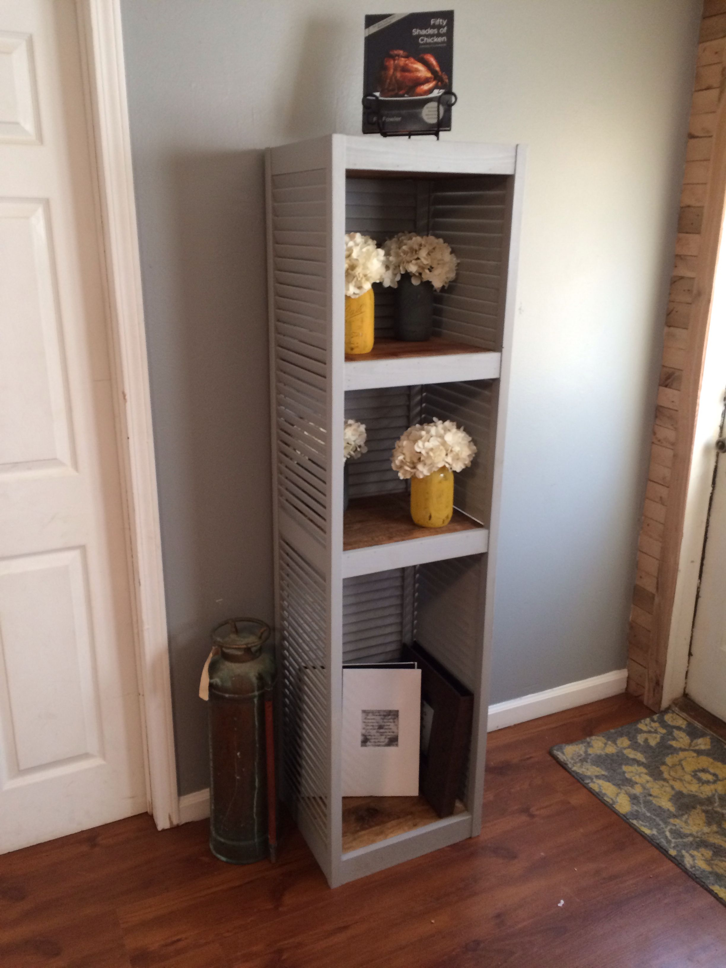 Repurposed bifold doors / shutters made into a stand alone ...