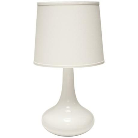 Haeger Potteries Gene Ceramic White Table Lamp 3c764 Lamps Plus White Table Lamp Lamp Table Lamp