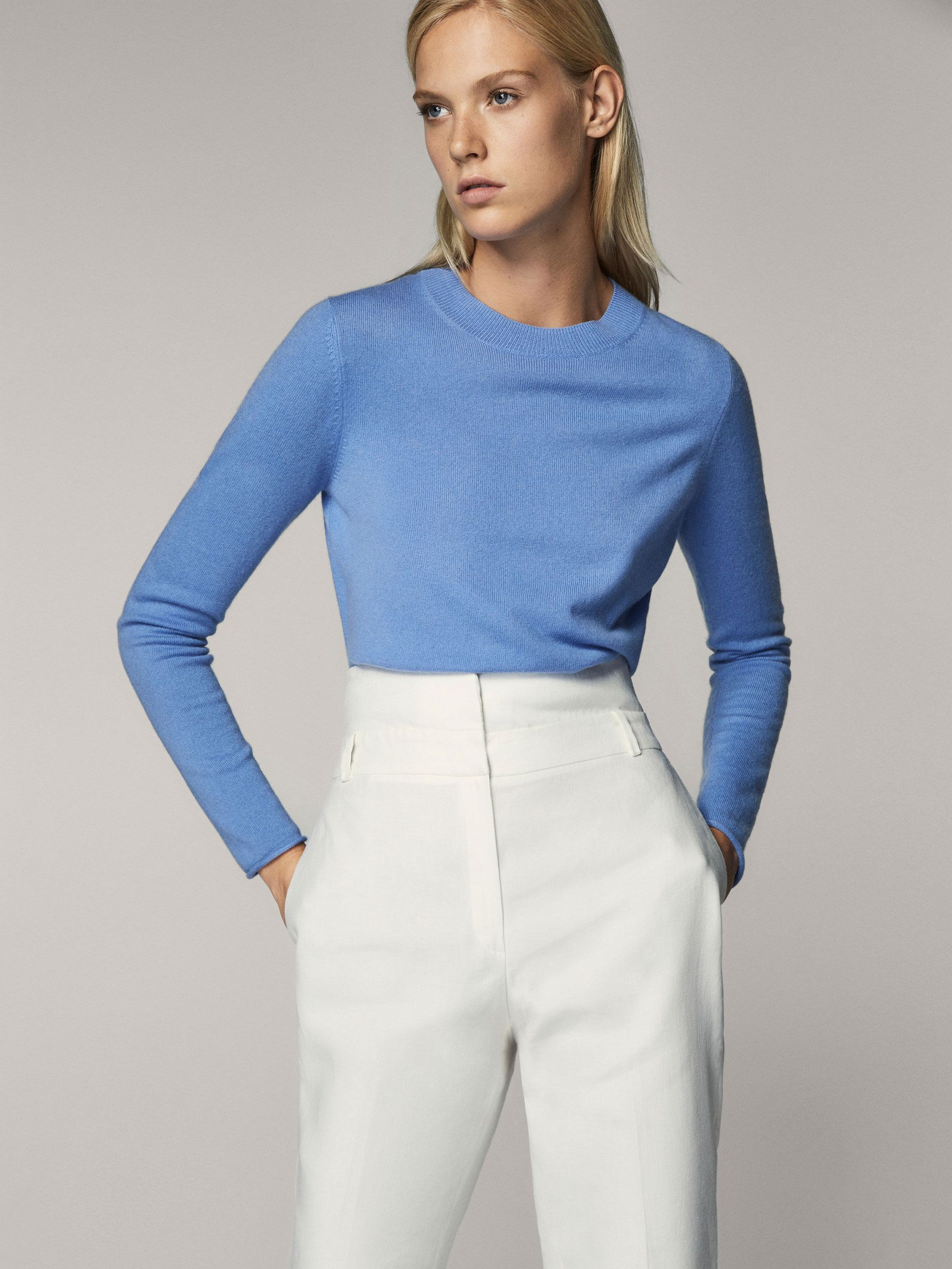 Fall Winter 2017 Women´s 100% CASHMERE ROUND NECK SWEATER at Massimo Dutti  for 99.95. Effortless elegance! 4a069f209e5