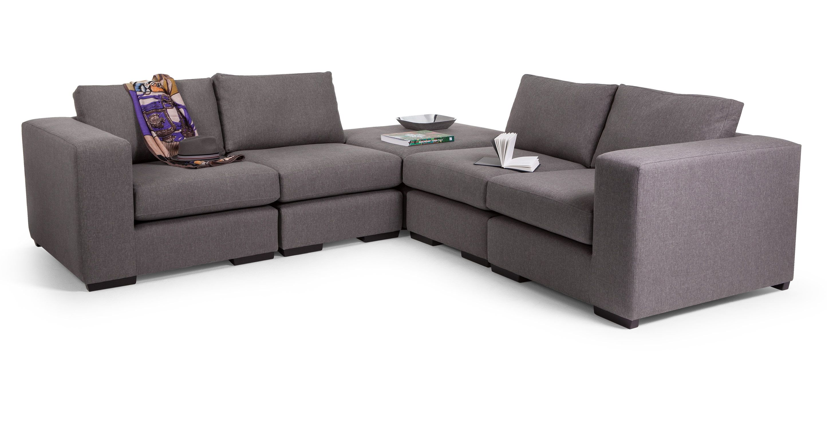 Abingdon Modular Corner Sofa Group In Misty Grey Made Com Modular Corner Sofa Leather Corner Sofa Corner Sofa Uk
