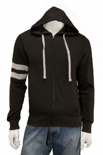 Mens Lightweight Full Zip Hooded Sweatshirt