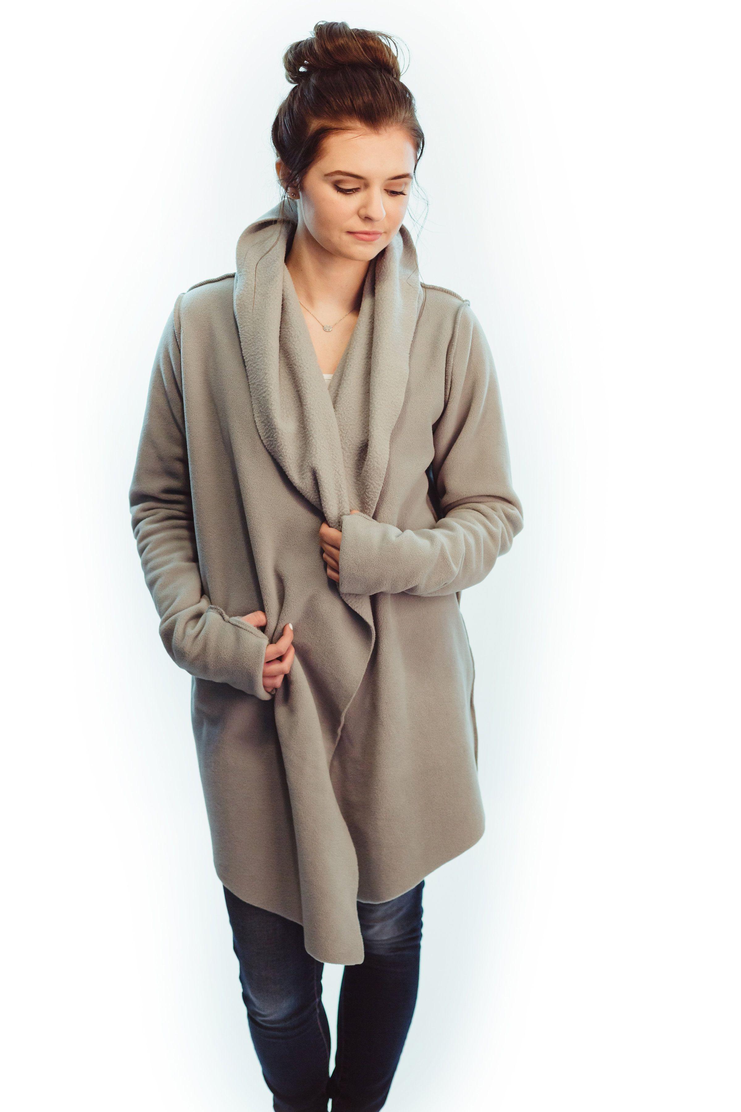 Cozy and warm fleece yoga wrap itus sweater weather pinterest