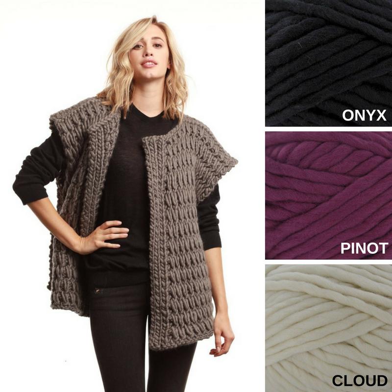 Cheryl by The Third Piece uses their super bulky Funky Chunky yarn ...