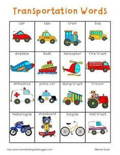 transportation words sladja english lessons english vocabulary english words. Black Bedroom Furniture Sets. Home Design Ideas