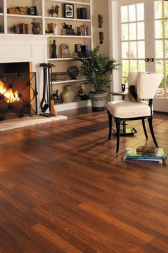 Living Room Hardwood Floors, Traditional Living Laminate Flooring Brazilian Cherry