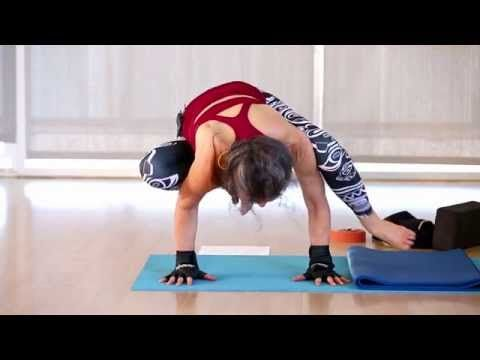 practice bakasana crow pose transitions with ana forrest