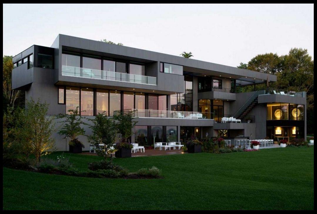 Frente de mansi n moderna fachada pinterest mansi n for Mansiones modernas