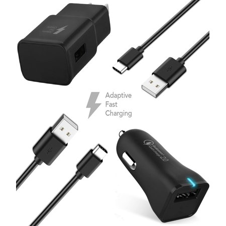 Ixir Samsung S8 Adaptive Fast Charger Type C 2 0 Cable Kit By Ixir Wall Charger Car Charger 2 Cables True Digital Adaptive Fast Charging Uses Dual Volta Wall Charger