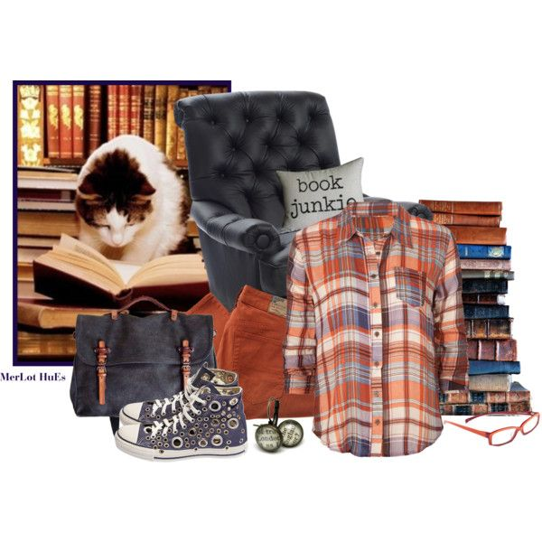 Book Junkie -- The perfect outfit for shopping through second hand bookstores.