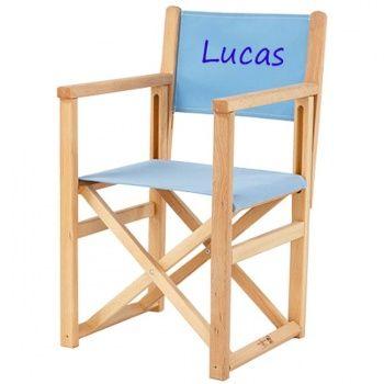 chaise pliante avec prenom