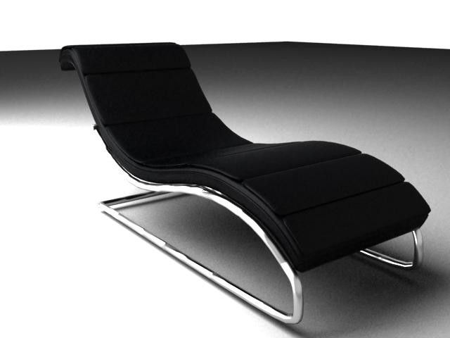 Curved Lounge Chair 3D 3Ds   3D Model