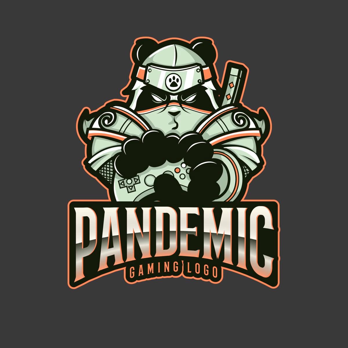 Gaming Logo Maker Featuring a Panda Warrior