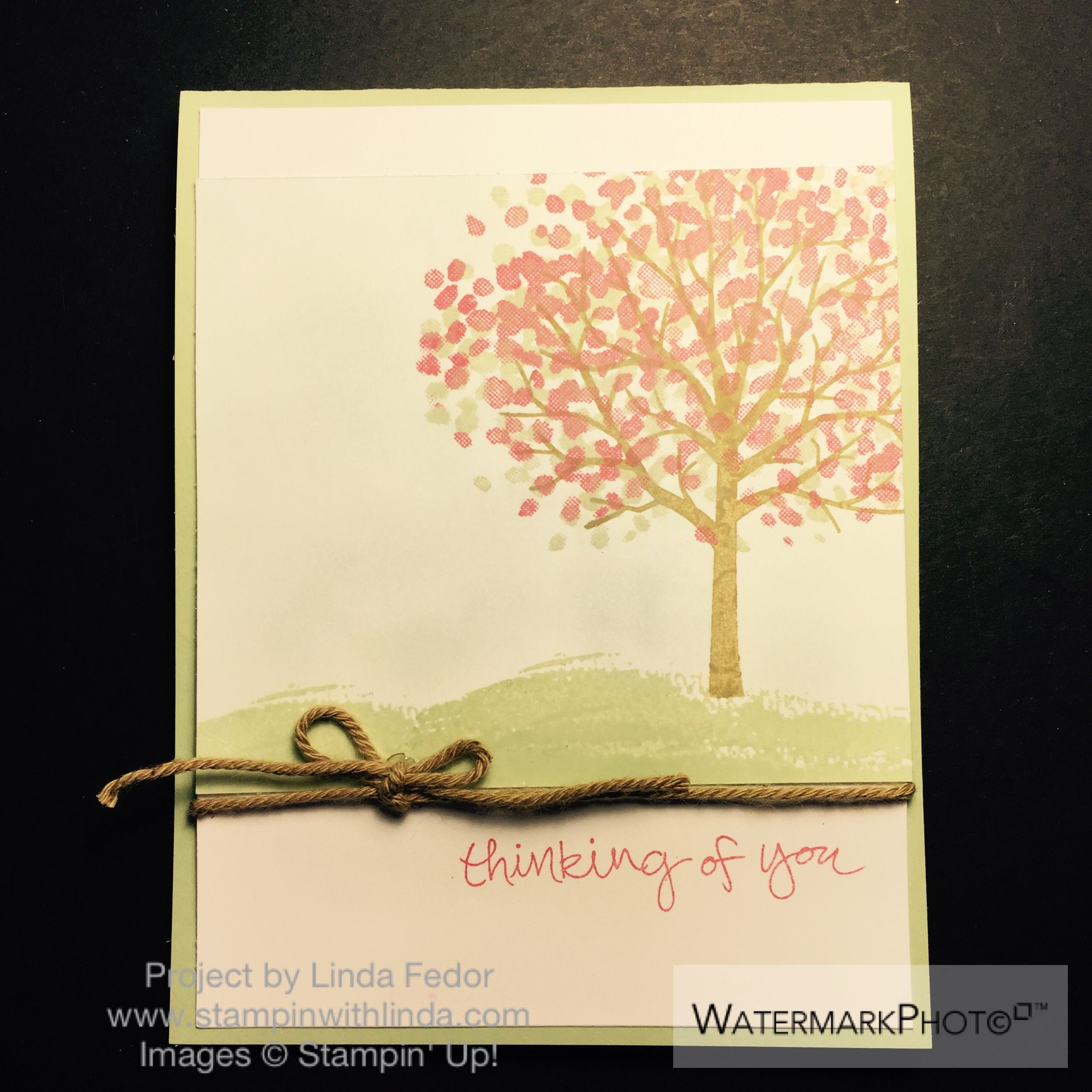 Thinking of You Sympathy Card Using Stampin' Up! Sheltering Tree Stamp Set/ www.stampinwithlinda.com
