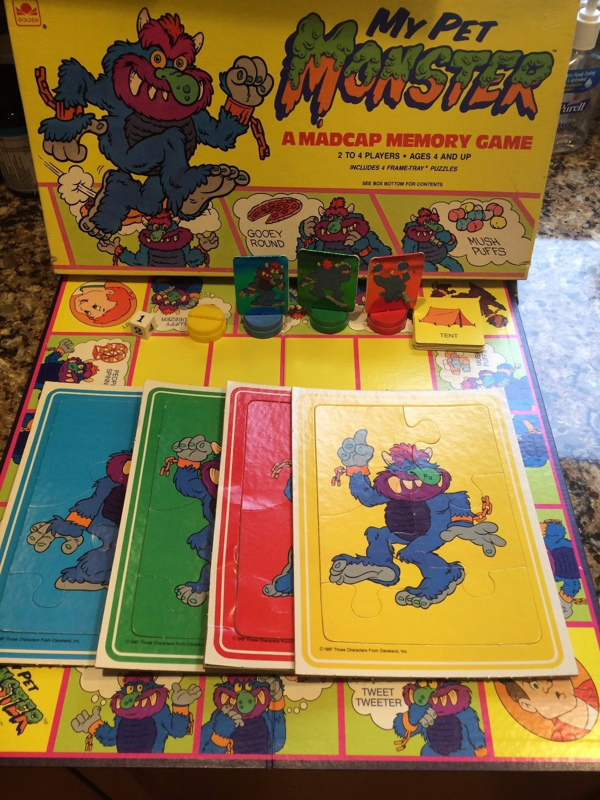 Vintage 1987 My Pet Monster Madcap Memory Board Game Very Rare Golden 4229 Pet Monsters Board Games Pets