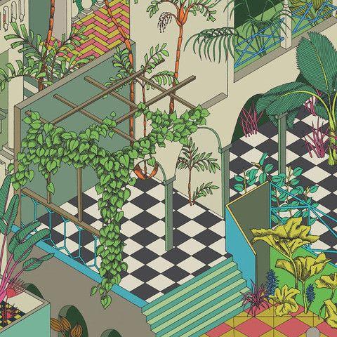 Cole & Son Wallpaper Miami 105/4017 in 2020 Wallpaper