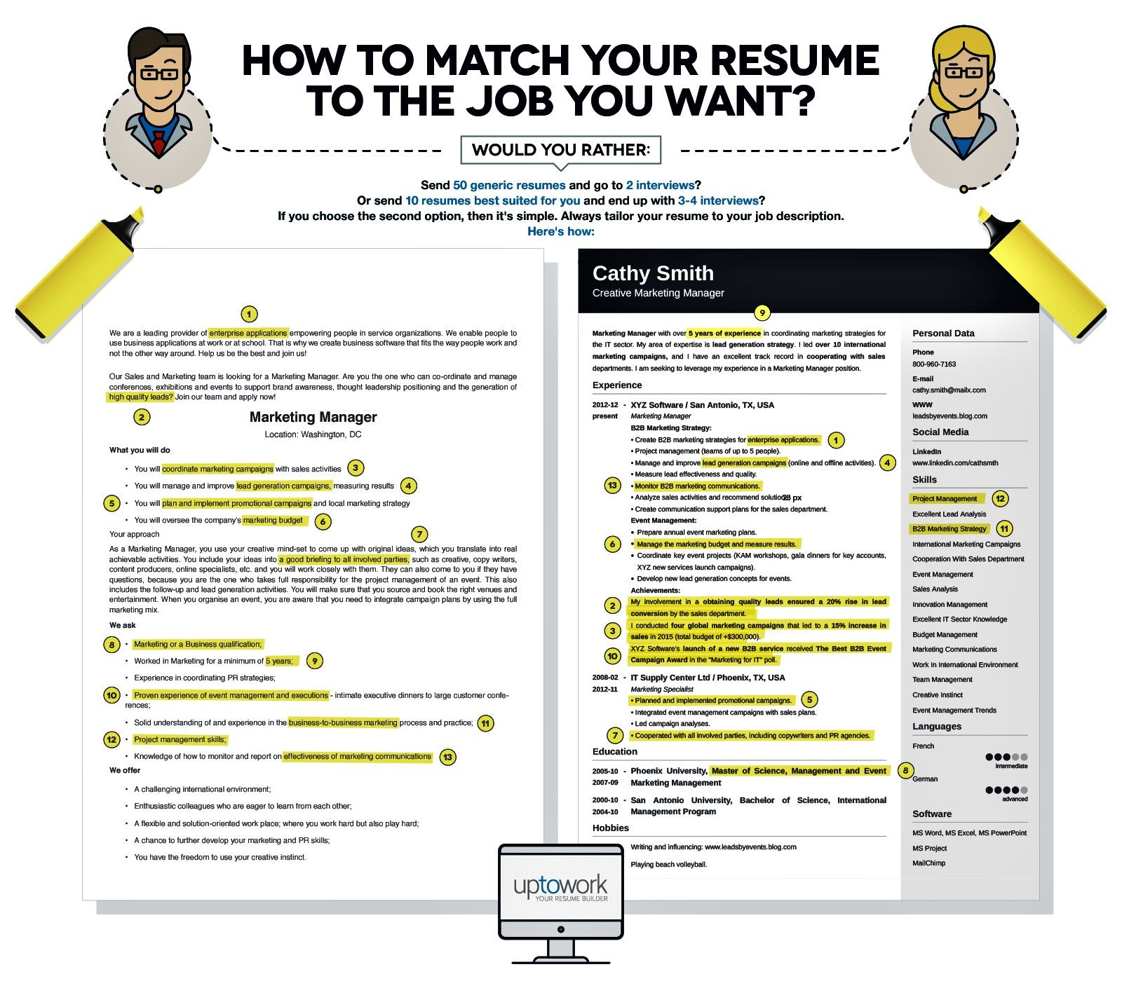 Matching Your Resume To The Job Be Prepared To Do This Resume Examples How To Make Resume Resume