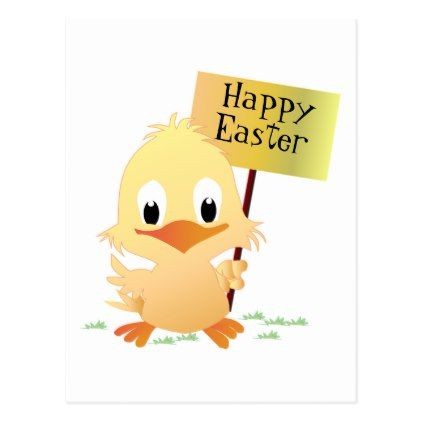 Happy Easter Postcard - holiday card diy personalize design template