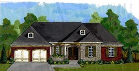Elevation of Cottage   House Plan 50195
