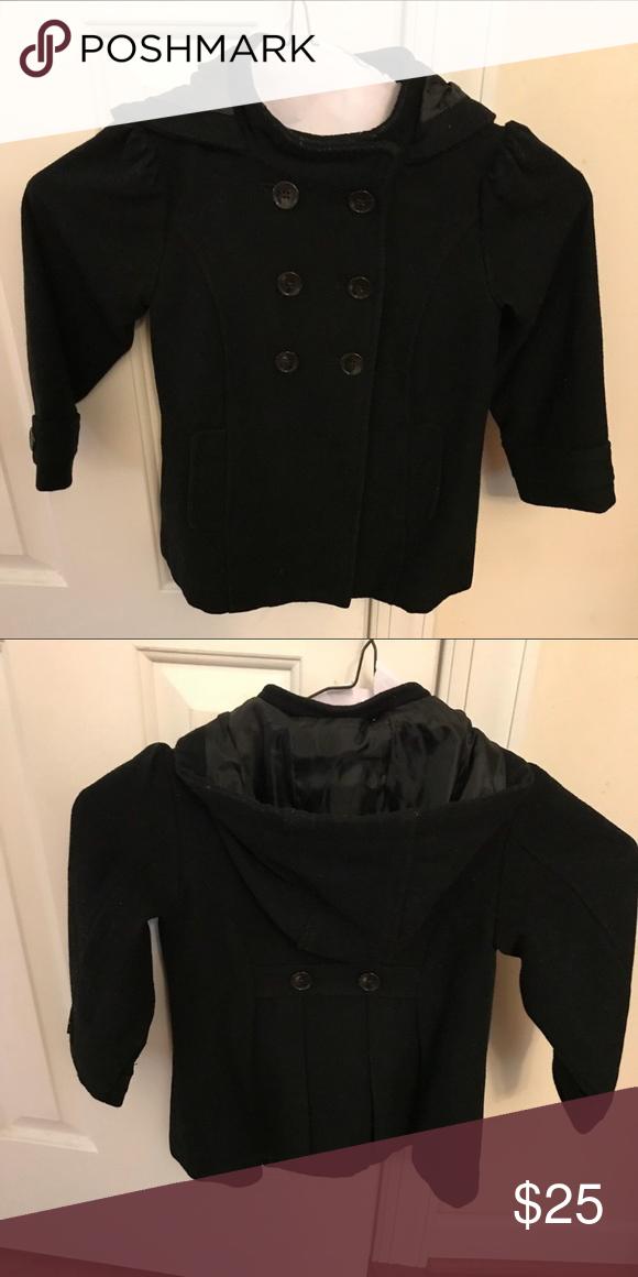 18e4e01d7 Little Girls Hooded Pea coat in 2018